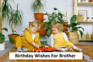 Read more about the article Best Birthday Wishes For Brother