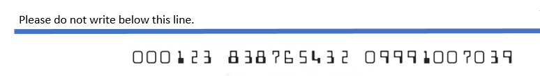 Bank security code