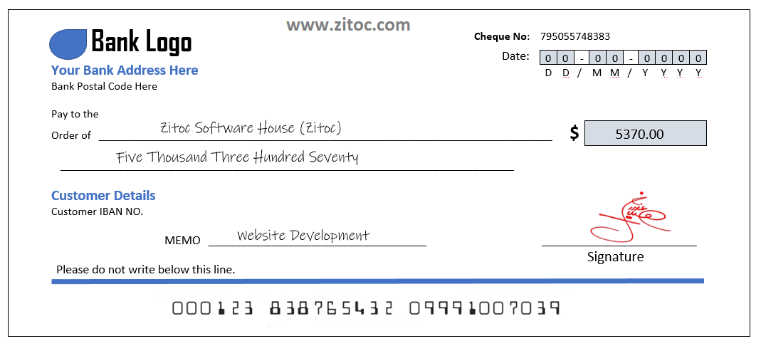 How to write out a check