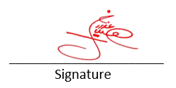 Sign the check