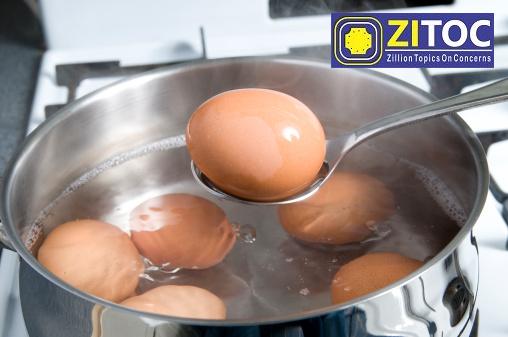Put eggs in a pot
