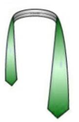 Drape the tie