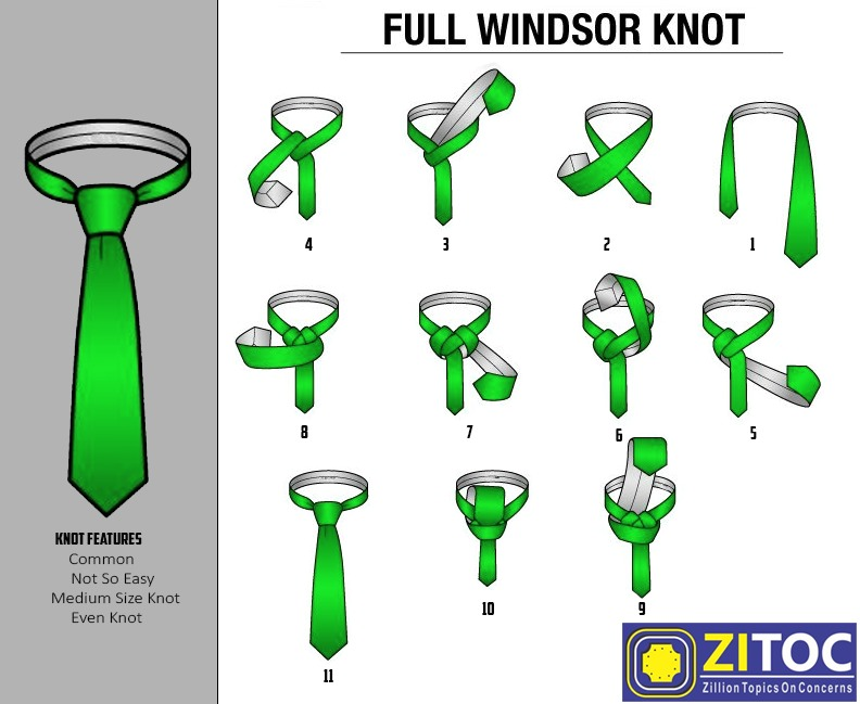 You are currently viewing Full Windsor Knot – How to tie a tie step by step guide