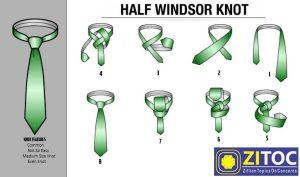 Half Windsor knot – How to tie a tie