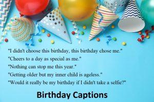 Top 50 Birthday Captions