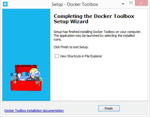 Setup Docker Toolbox Finish