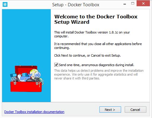 Setup Docker Toolbox