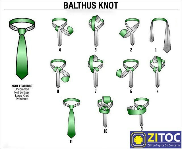 Balthus Knot – How to tie a tie step by step tutorial