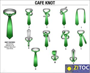 Cafe Knot Tie, How to tie a tie step by step blog