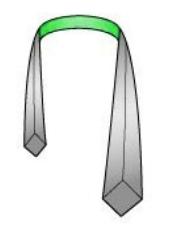 Drape the neck tie around your collar