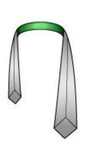 Drape the necktie, around your collar