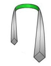 Drape the necktie around your collar4