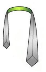 Drape the necktie around your collar