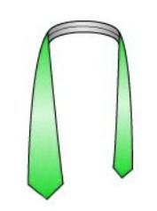 Drape the necktie around your collar8