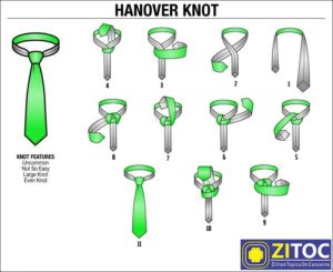 Read more about the article Hanover Knot, How to tie a tie step by step guide