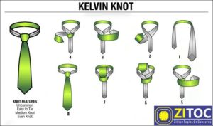Kelvin Knot, How to tie a tie step by step guide