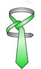 Make a horizontal band behind the knot4