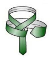 Make a horizontal band behind the knot