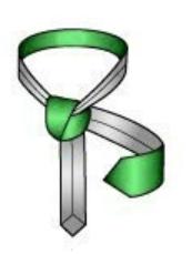 Make a horizontal loop above the vertical loop