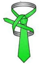 Make an upward diagonal on left side of the knot