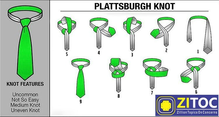 Plattsburgh Knot, How to tie a tie step by step guide