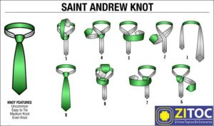 St Andrews Knot, How to tie a tie step by step guide