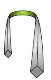 Wrap the necktie around your collar