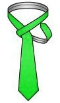 Wrap the thin end around the knot